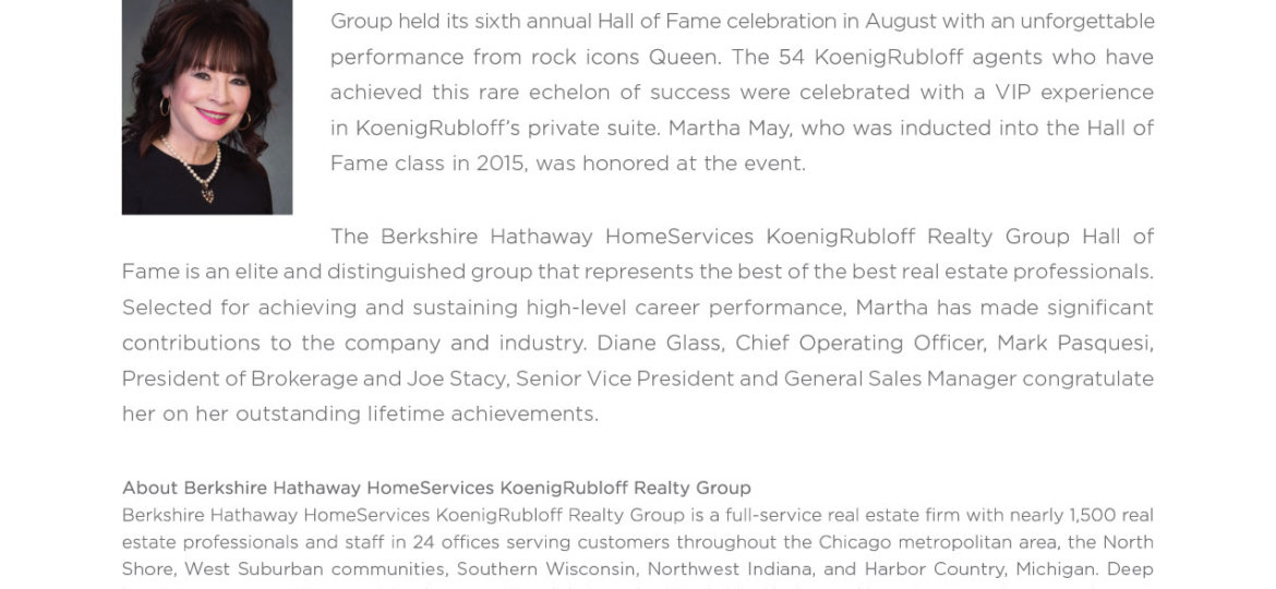 Martha May Hall of Fame Press Release 2019-01